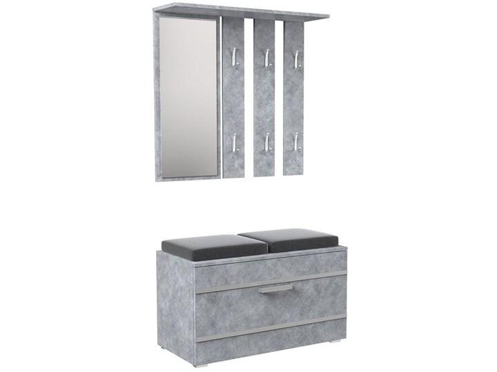 Garderoba z szafką na buty + siedzisko Malea - beton