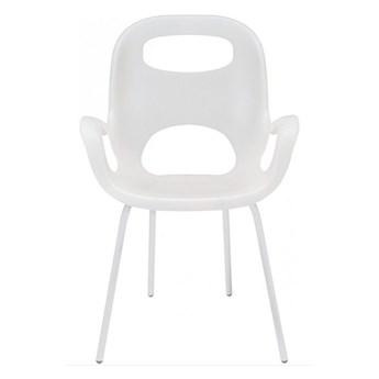 Minimalistyczne krzesło Giano - białe