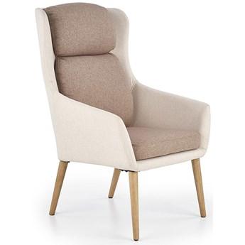 Tapicerowany fotel wypoczynkowy Kossan - beżowy