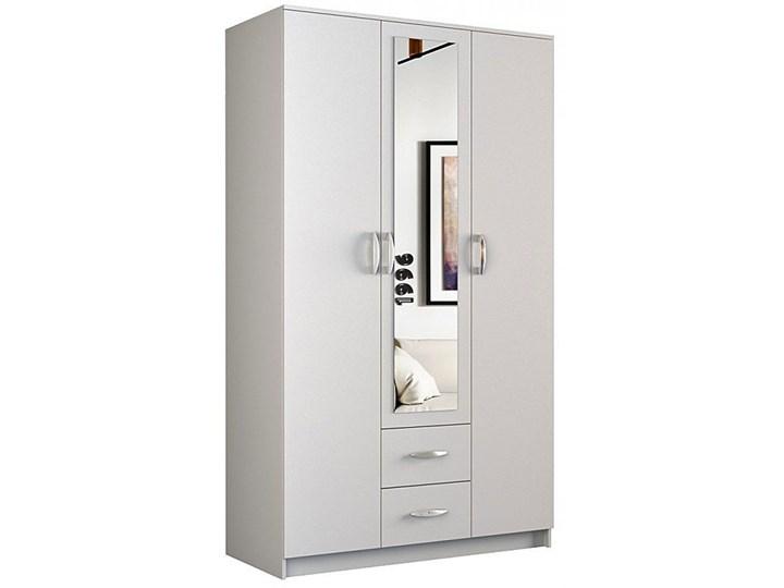 Szafa z lustrem Amira 3X - biała Pomieszczenie Przedpokój Kategoria Szafy do garderoby