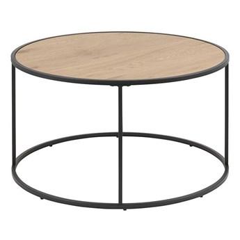 Kawowy stolik loft - Arron 2X - czarny