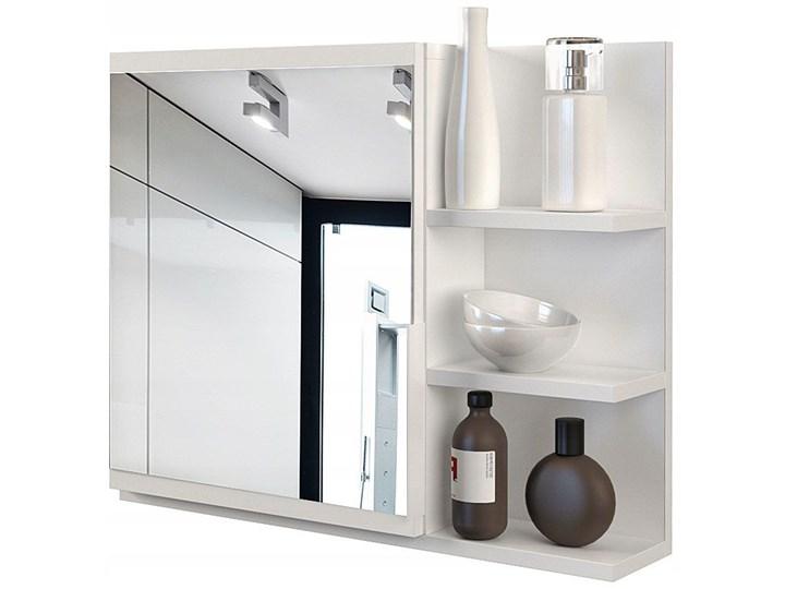 Lustro łazienkowe Lexi 2X - białe Prostokątne Lustro z półką Styl Klasyczny Ścienne Kolor Biały