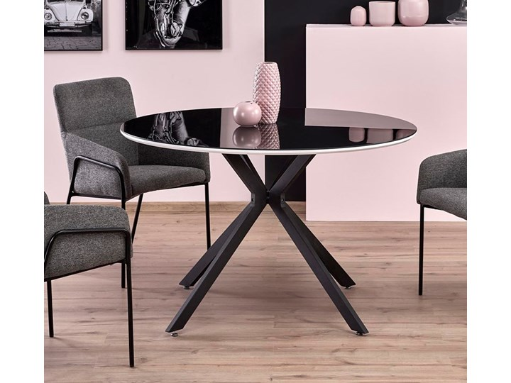 Szklany stół Adelo - czarny