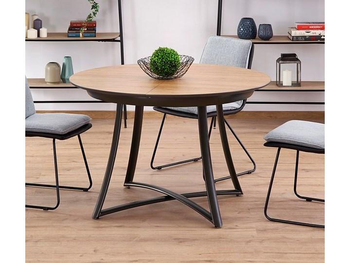 Rozkładany stół Dumio - dąb złoty Drewno Długość 148 cm Długość 118 cm Wysokość 76 cm Rozkładanie