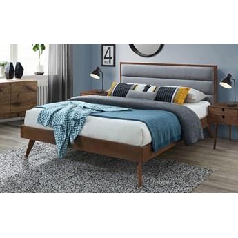 Łóżko Otto 160x200 cm - szare + orzech