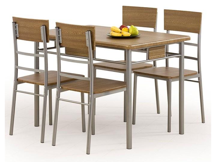 Stół z krzesłami Dastin Liczba krzeseł 4 krzesła Kolor Brązowy