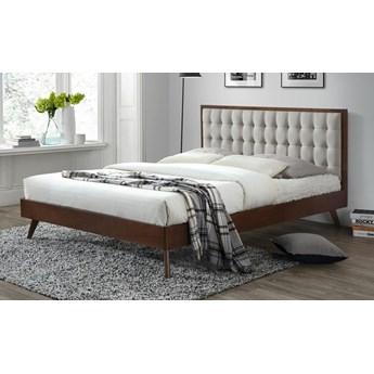Łóżko Auston 160x200 cm - beż + orzech