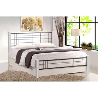 Łóżko Mikeo 160x200 cm - biały + czarny