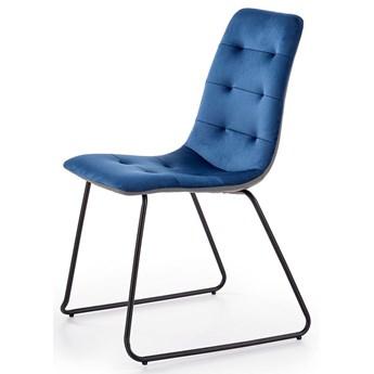 Krzesło pikowane Hider - granatowe