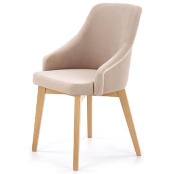 Krzesło drewniane Altex 2X - beż + dąb miodowy