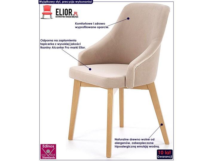 Krzesło drewniane Altex 2X - beż + dąb miodowy Wysokość 86 cm Styl Skandynawski Drewno Szerokość 57 cm Kolor Beżowy