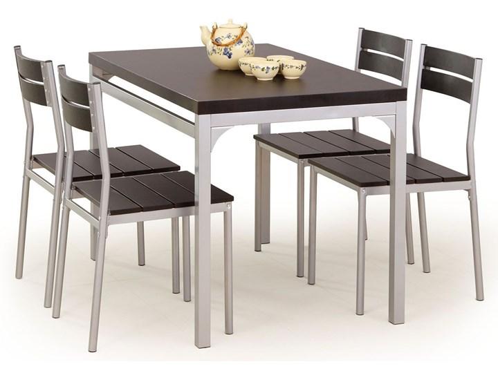 Stół z krzesłami Torino - wenge Kolor Brązowy