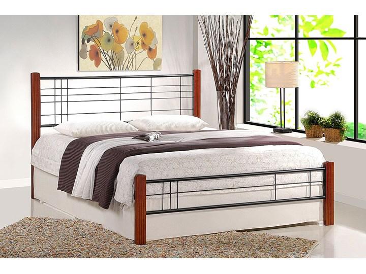 Łóżko drewniane Verona 160x200 Łóżko metalowe Kolor Brązowy
