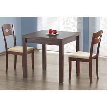 Stół kwadratowy rozkładany Cubires - ciemny orzech