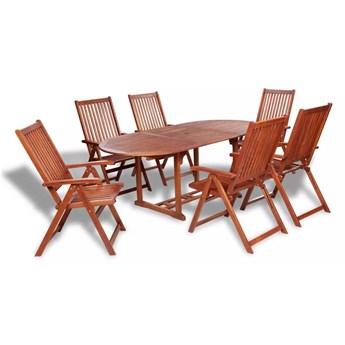 Zestaw drewnianych mebli ogrodowych Linder 2X - brązowy
