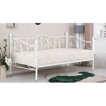Pojedyncze metalowe łóżko jednoosobowe Dolie 90x200 - białe