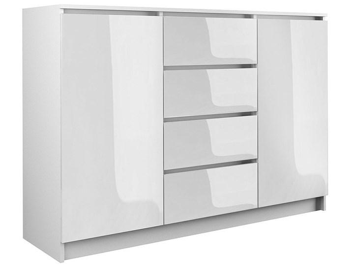 Lakierowana komoda Intia 3X - biały połysk Głębokość 40 cm Płyta MDF Szerokość 120 cm Wysokość 97 cm Z szafkami i szufladami Pomieszczenie Garderoba