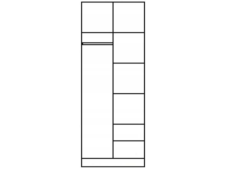 Szafa z lustrem Amira 2X - dąb sonoma Metal Płyta MDF Kolor Beżowy Drewno Kategoria Szafy do garderoby