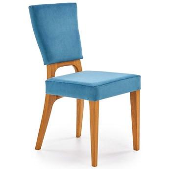 Krzesło dębowe Vernon - morskie + dąb miodowy