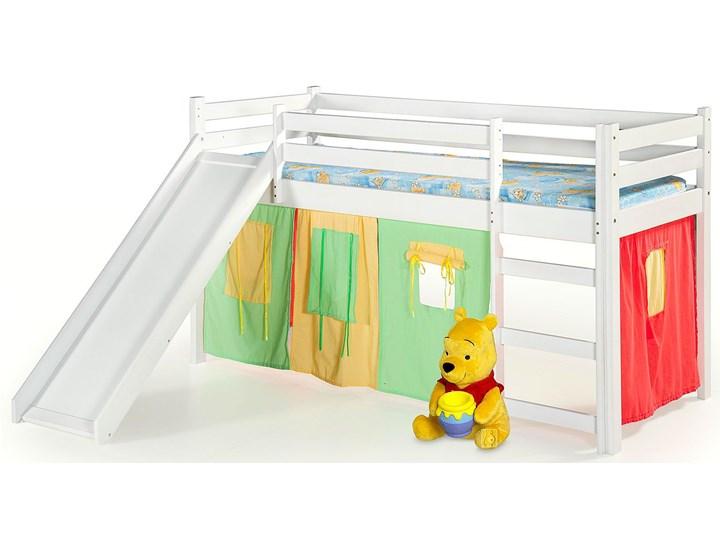 Łóżko ze zjeżdżalnią Flaser - białe Łóżka piętrowe ze zjeżdżalnią Drewno Kolor Biały Rozmiar materaca 80x190 cm