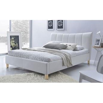 Łóżko tapicerowane Sandis - białe