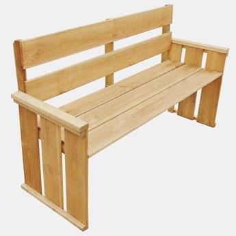 Drewniana ławka ogrodowa Uter - brązowa