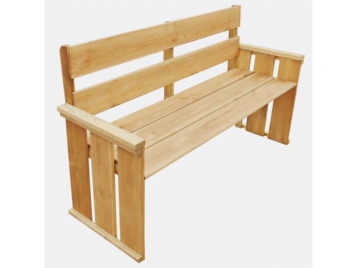 Drewniana ławka ogrodowa Uter - brązowa Drewno Kolor Brązowy Kategoria Ławki ogrodowe