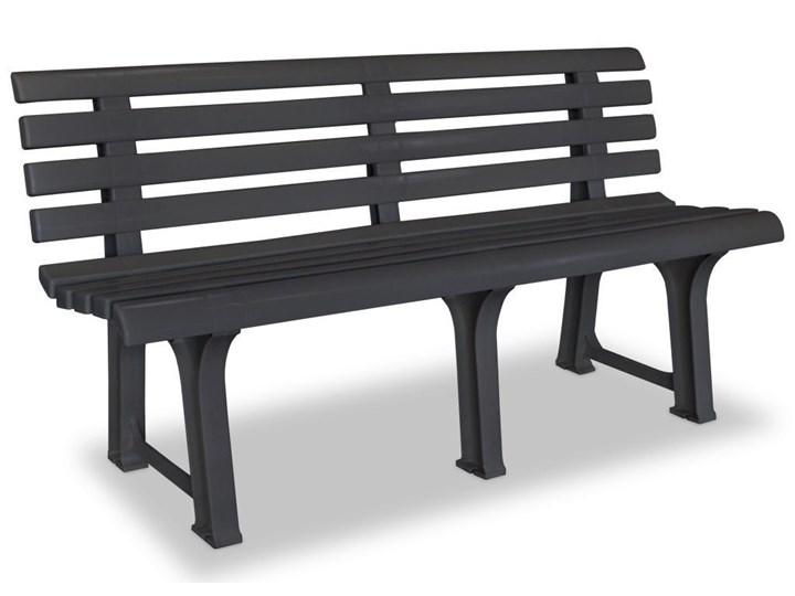Ławka ogrodowa Alvine - szara Z oparciem Kategoria Ławki ogrodowe Długość 145,5 cm Tworzywo sztuczne Kolor Czarny