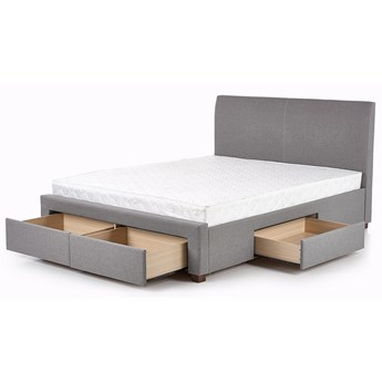 Tapicerowane łóżko Moris 2X 160x200 - popielate