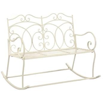 Bujana ławka ogrodowa Dion - biała