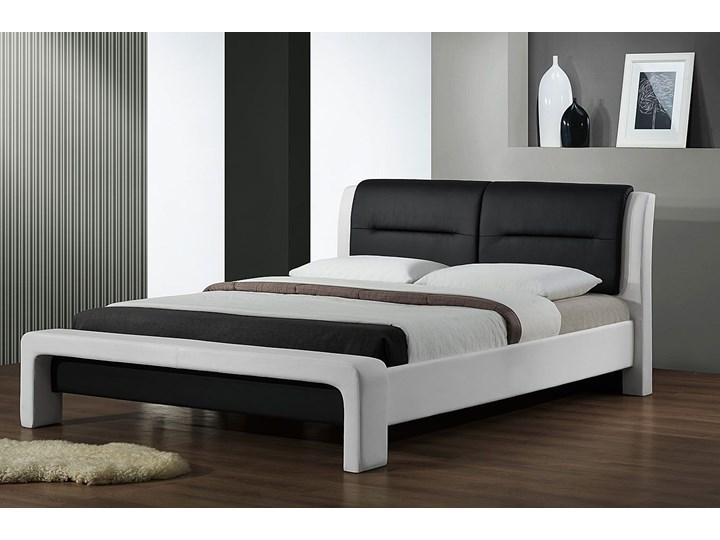 Łóżko biało-czarne Sandres 3X 160x200 Łóżko tapicerowane Kategoria Łóżka do sypialni