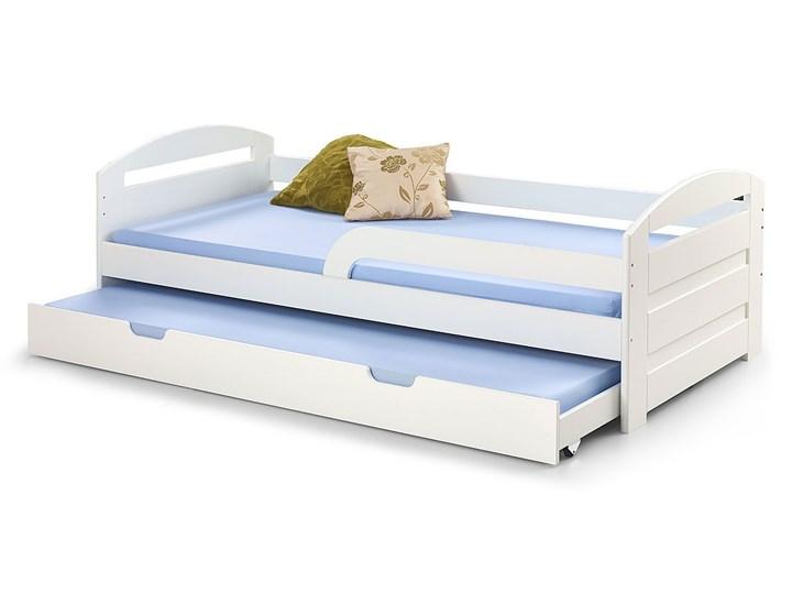 Podwójne łóżko rozsuwane Sistel - białe Tradycyjne Rozmiar materaca 90x200 cm