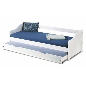 Wielofunkcyjne dwuosobowe łóżko rozsuwane Legis - białe