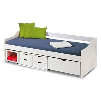 Jednoosobowe łóżko z szufladami Nixer - białe