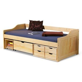 Jednoosobowe łóżko drewniane z szufladami Nixer