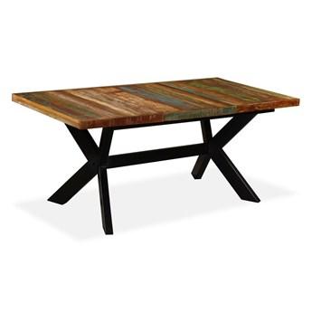 Industrialny stół z drewna mango – Kalis 5X