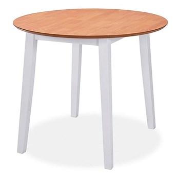 Okrągły stół składany Toto - biały + brąz