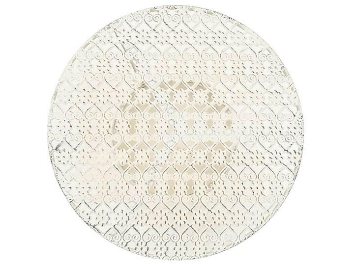 Romantyczny stolik vintage Marin - biały Kształt blatu Okrągłe Wysokość 77 cm Kategoria Stoliki i ławy