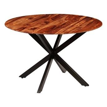 Stół okrągły w stylu loft do kuchni Rival – brązowy