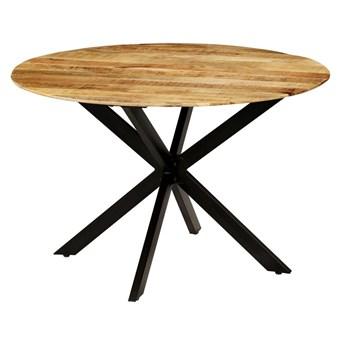 Stół okrągły w stylu loft do kuchni Rival – jasnobrązowy
