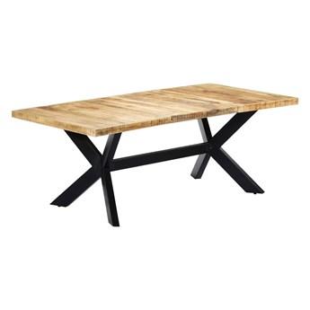 Stół z drewna mango Kalis 6X – jasnobrązowy