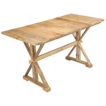 Stół z litego drewna mango Wadas – jasnobrązowy