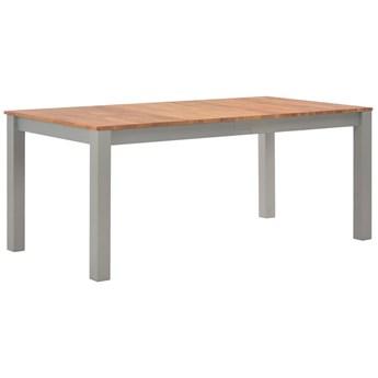 Stół jadalniany z drewna dębowego Erin 2X – szary