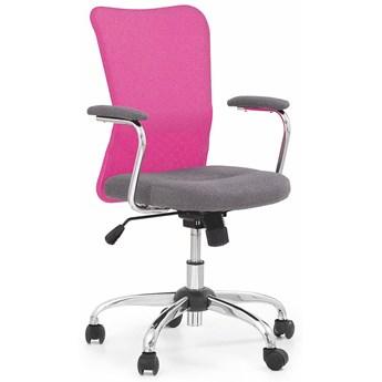 Fotel obrotowy dla dziewczynki Alwer - różowy