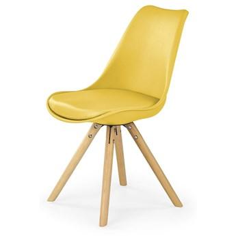 Krzesło skandynawskie Depare - żółte