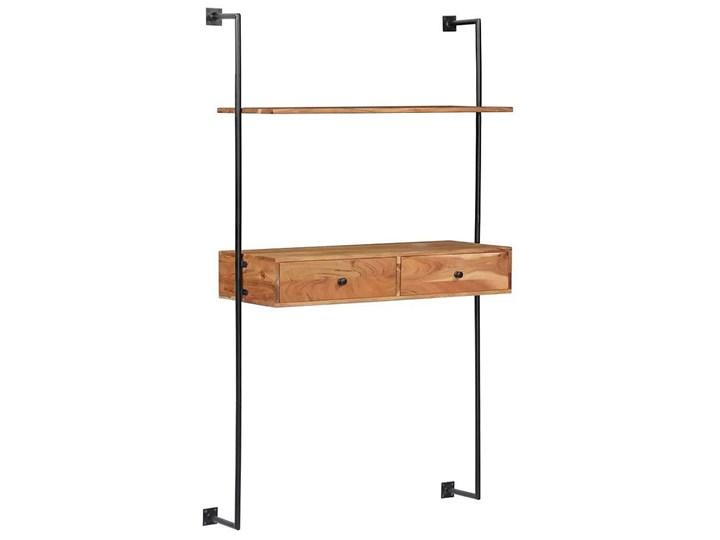 Drewniane biurko ścienne Tant - brązowe Drewno Szerokość 90 cm Styl Nowoczesny Szerokość 40 cm Styl Industrialny