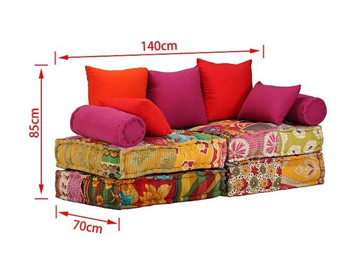 Modułowa sofa patchwork Demri 2D Szerokość 70 cm Modułowe Boki Z bokami