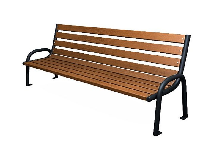 Stalowa ławka parkowa Valkiria 2V - palisander