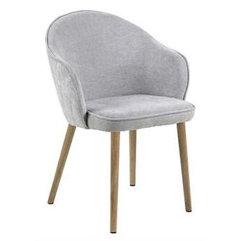 Pikowane krzesło Shalo - szare
