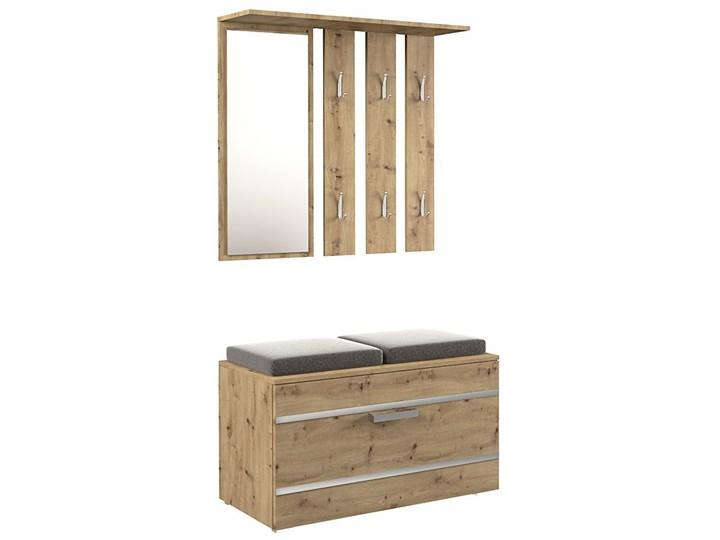 Garderoba z szafką na buty i lustrem Malea - dąb artisan Kategoria Zestawy mebli do sypialni Kolor Beżowy